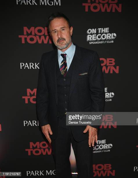 """Actor David Arquette arrives at the """"Mob Town"""" Exclusive Vegas Screening After-Party at On The Record Speakeasy and Club in Park MGM on November 30,..."""