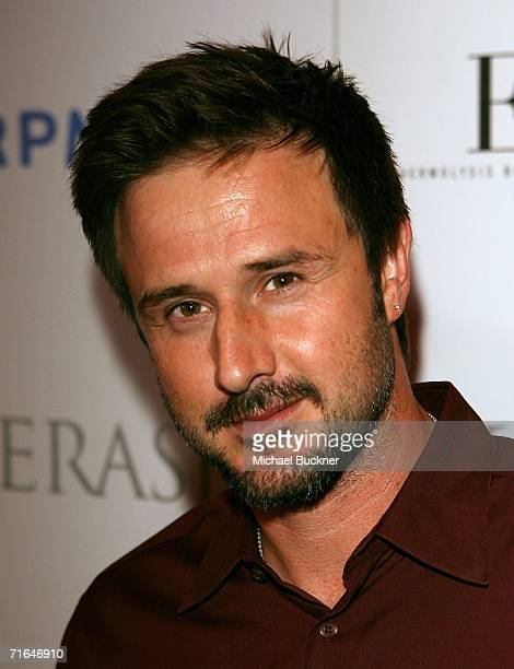 Actor David Arquette arrives at the 'Night at the Comedy Store' benefitting the EB Medical Research Foundation at the Comedy Store on August 14 2006...