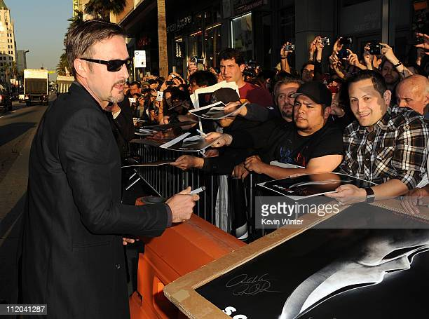 """Actor David Arquette arrives at the premiere of The Weinstein Company's """"Scream 4"""" Presented by AXE Shower held at Grauman's Chinese Theatre on April..."""