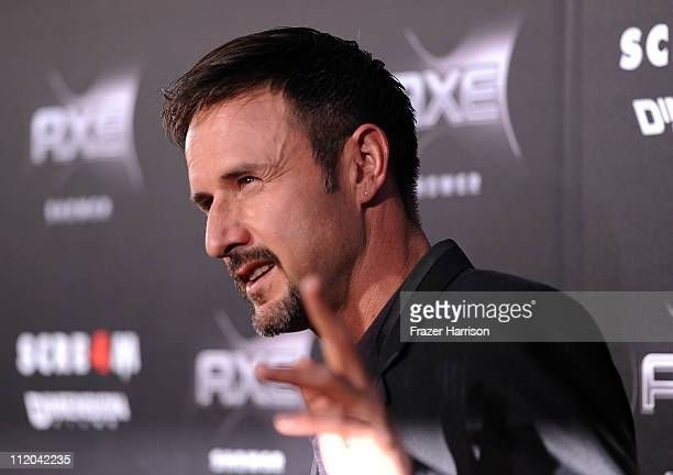 """Actor David Arquette arrives at the premiere of the Weinstein Company's """"Scream 4"""" Presented by AXE Shower at Grauman's Chinese Theatre on April 11,..."""