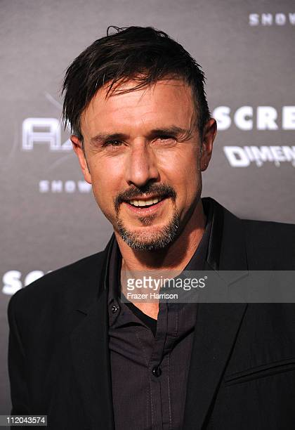 Actor David Arquette arrives at the premiere of the Weinstein Company's Scream 4 Presented by AXE Shower at Grauman's Chinese Theatre on April 11...