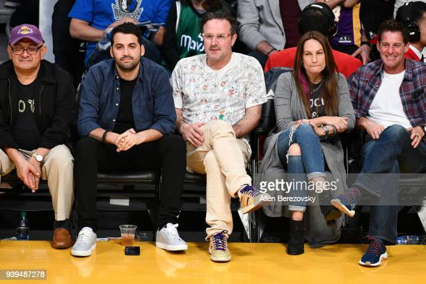 Actor David Arquette attends a basketball game between the Los Angeles Lakers and the Dallas Mavericks at Staples Center on March 28 2018 in Los...