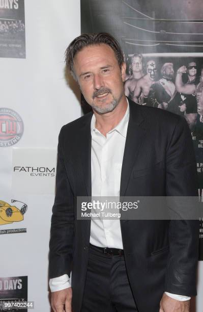 """Actor David Arquette attends a screening of the pro wrestling documentary """"350 Days"""" at TCL Chinese 6 Theatres on July 12, 2018 in Hollywood,..."""