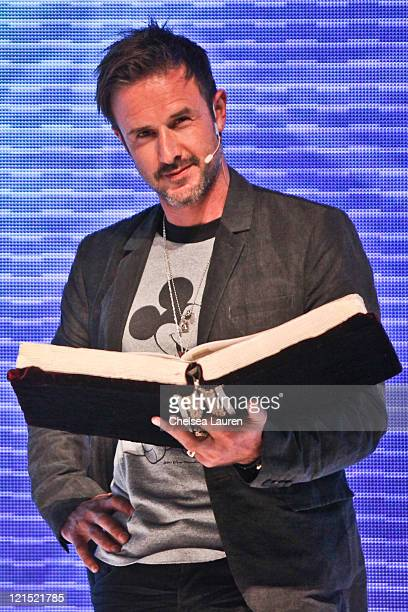 Actor David Arquette attends Disney's 2011 D23 Expo Day 1 at Anaheim Convention Center on August 19 2011 in Anaheim California