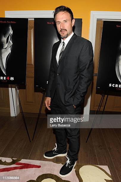 Actor David Arquette attends the Scream 4 New York screening hosted by Curtis '50 Cent' Jackson Harvey Weinstein at the Crosby Street Hotel on April...