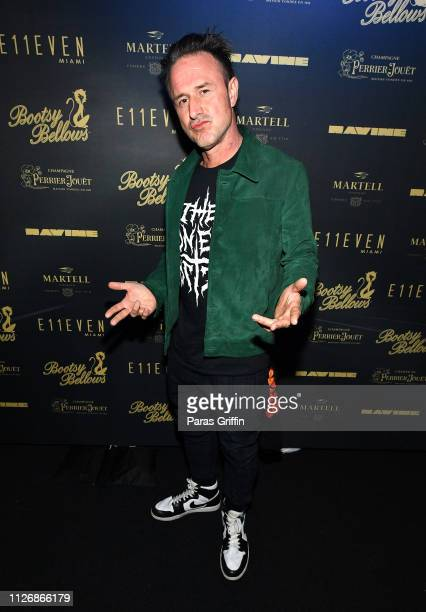 Actor David Arquette attends Tiesto Performs At Bootsy Bellows x E11EVEN Miami 2019 BIG GAME WEEKEND EXPERIENCE at RavineATL on February 01 2019 in...