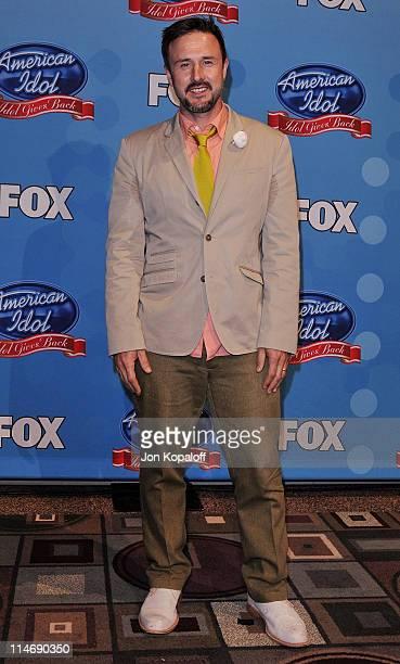 Actor David Arquette poses at Idol Gives Back 2010 at Pasadena Civic Center on April 21, 2010 in Pasadena, Texas.
