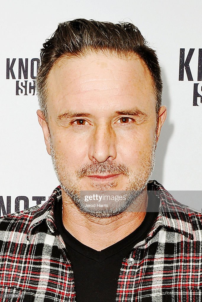 Actor David Arquette visits Knott's Scary Farm at Knott's Berry Farm on October 22, 2016 in Buena Park, California.