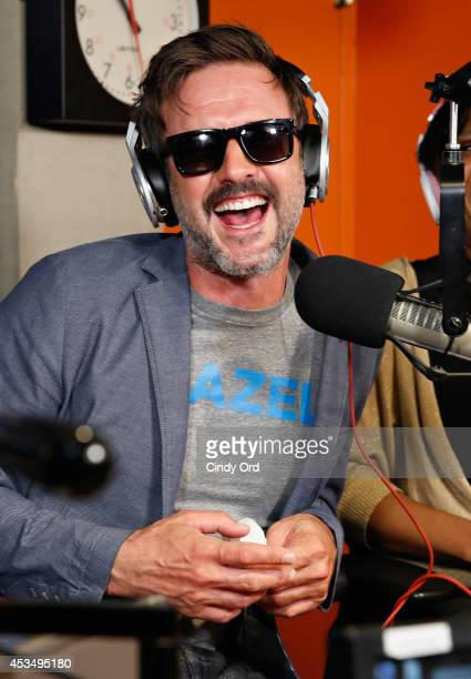 Actor David Arquette visits 'Sway in the Morning' with Sway Calloway on Eminem's Shade 45 at the SiriusXM Studios on August 11 2014 in New York City