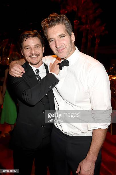 Actor David Benioff and David Benioff attend HBO's Official 2015 Emmy After Party at The Plaza at the Pacific Design Center on September 20 2015 in...