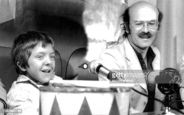 Actor David bennent and director Volker Schlöndorff during a press conference on the 24th of May in 1979 in Cannes The film The Tin Drum won the...