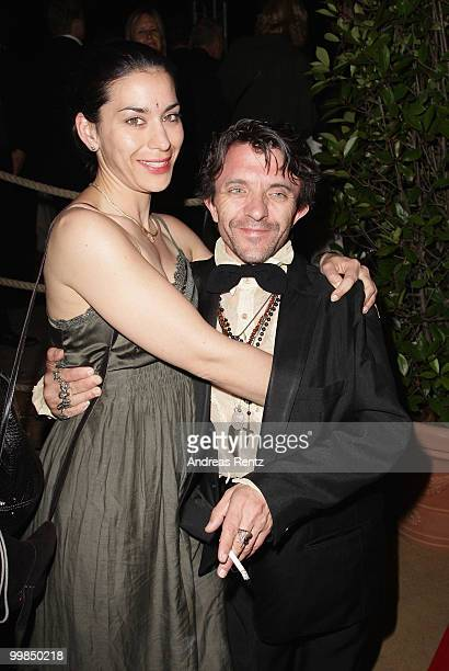 Actor David Bennent and partner Kavita attend the German Films Reception at the Carlton Hotel during the 63rd Annual Cannes Film Festival on May 17...