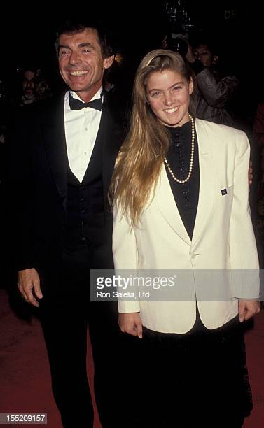 Actor David Birney and daughter Kate Birney attend the screening of Hamlet on December 18 1990 at Mann Village Theater in Westwood California