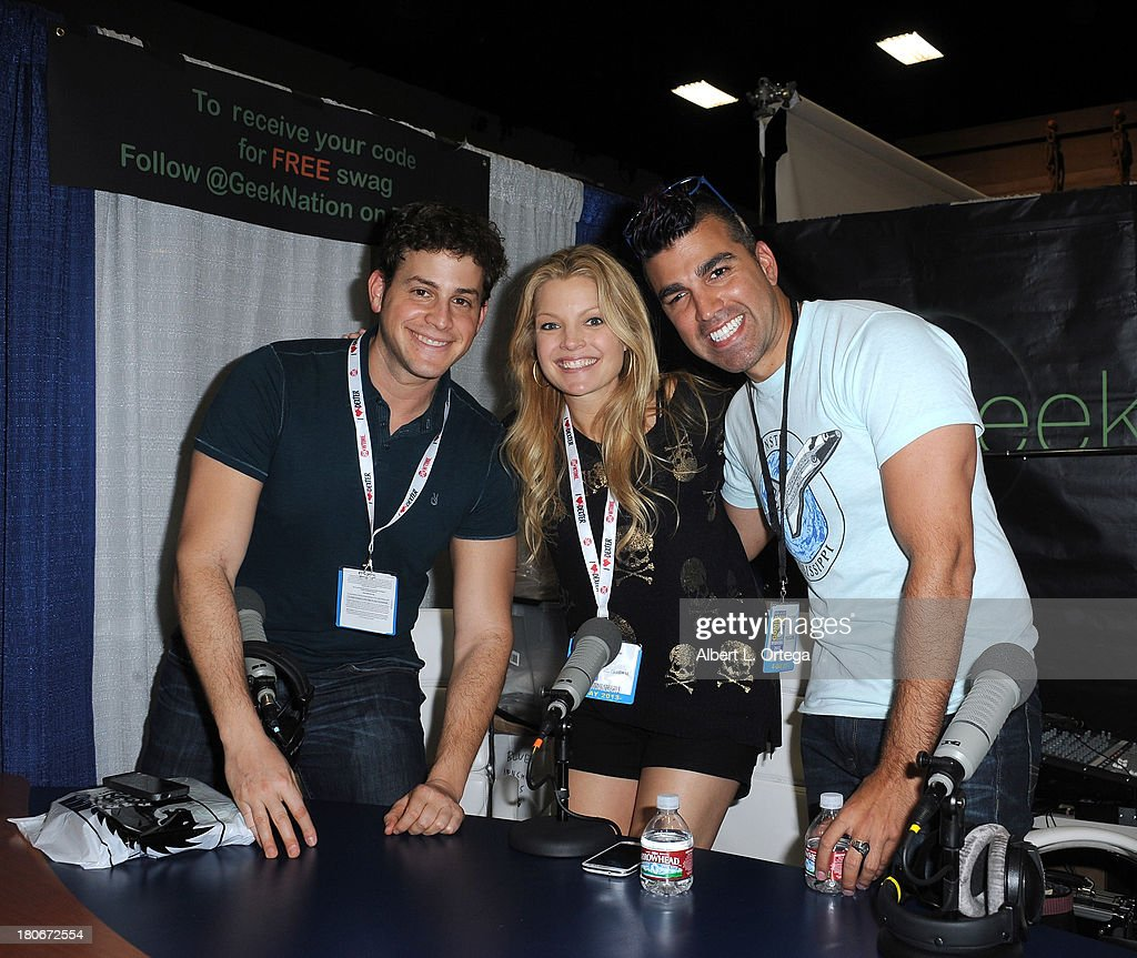 Actor David Blue, actress Clare Kramer and NASA's Bobak Fedowski at the Geek Nation Booth on Day 1 of the 2013 Comic-Con International - General Atmosphere held at San Diego Convention Center on Thursday July 18, 2012 in San Diego, California.