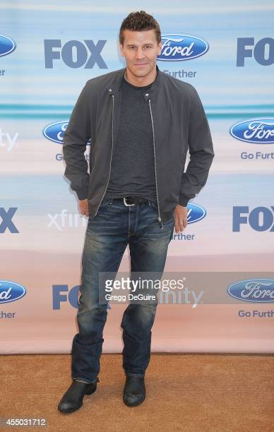 Actor David Boreanaz arrives at the 2014 FOX Fall EcoCasino Party at The Bungalow on September 8 2014 in Santa Monica California