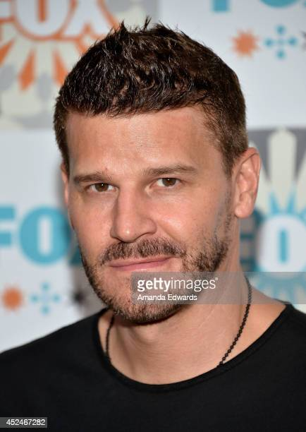 Actor David Boreanaz arrives at the 2014 Television Critics Association Summer Press Tour FOX AllStar Party at Soho House on July 20 2014 in West...