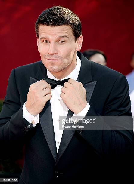 Actor David Boreanaz arrives at the 61st Primetime Emmy Awards held at the Nokia Theatre on September 20 2009 in Los Angeles California