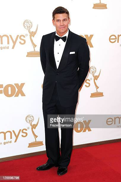 Actor David Boreanaz arrives at the 63rd Annual Primetime Emmy Awards held at Nokia Theatre LA LIVE on September 18 2011 in Los Angeles California