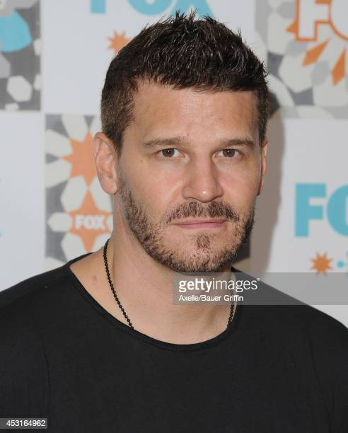 Actor David Boreanaz arrives at the FOX AllStar Party 2014 Television Critics Association Summer Press Tour at Soho House on July 20 2014 in West...