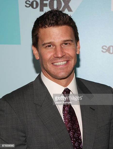Actor David Boreanaz attends the 2009 FOX UpFront after party at the Wollman Rink in Central Park on May 18 2009 in New York City