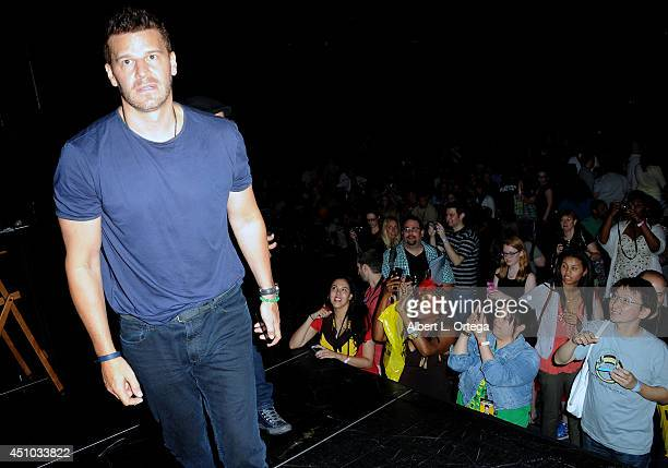 Actor David Boreanaz attends Wizard World Philadelphia Comic Con 2014 Day 3 held at Pennsylvania Convention Center on June 21 2014 in Philadelphia...
