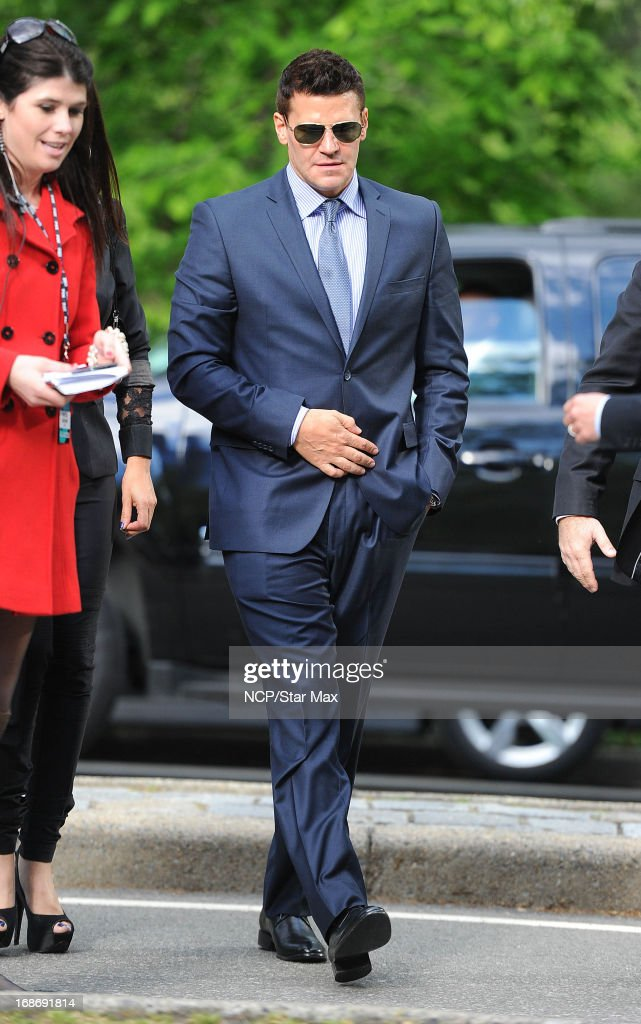 Actor David Boreanaz is seen on May 13, 2013 in New York City.