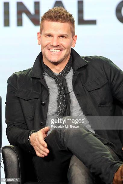 Actor David Boreanaz of the television show 'Bones' speaks onstage during the FOX portion of the 2017 Winter Television Critics Association Press...
