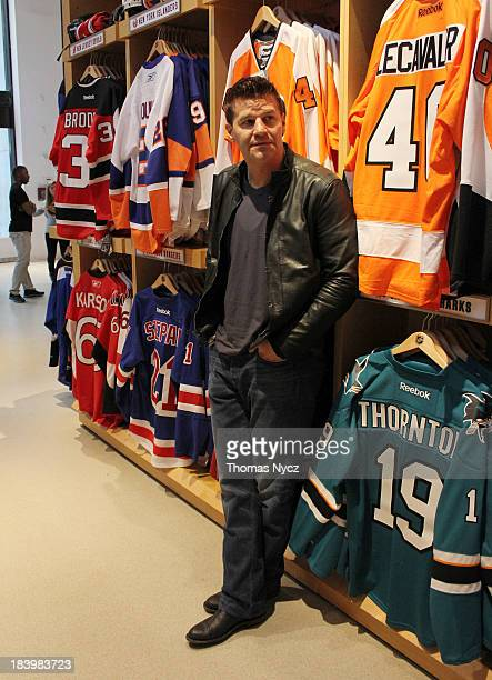 8f152029d0a3c2 Actor David Boreanaz shops at the NHL Powered by Reebok Store on October 10  2013 in