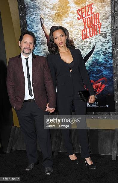 Actor David Brenner and actress Amber Dixon Brenner arrive for the Premiere Of Warner Bros Pictures And Legendary Pictures' '300 Rise Of An Empire'...