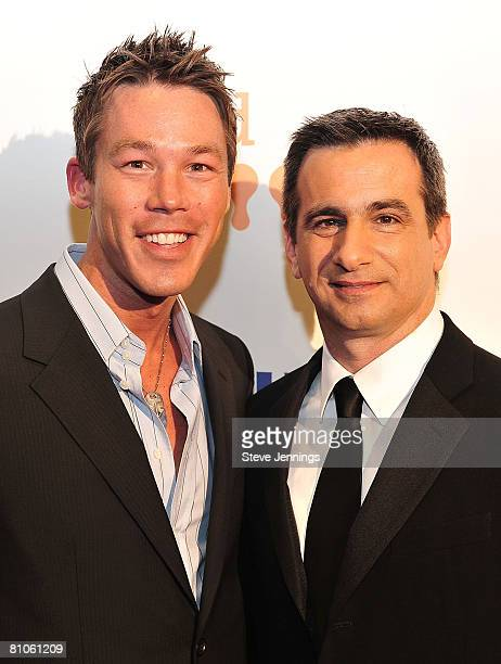 Actor David Bromstad with Gladd President Neil G Giuliano at the 19th Annual GLAAD Media Awards at Marriott Hotel on May 10 2008 in San Francisco...