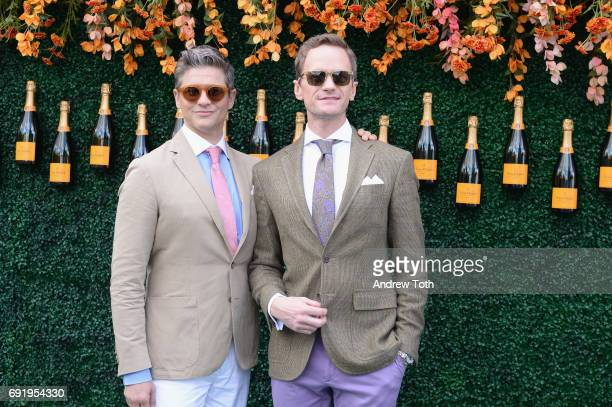 Actor David Burtka and host and actor Neil Patrick Harris attend The Tenth Annual Veuve Clicquot Polo Classic at Liberty State Park on June 3 2017 in...