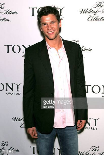 Actor David Burtka poses at The Tonys Awards Honor Presenters And Nominees at Waldorf Astoria in New York on June 10 2006 in New York