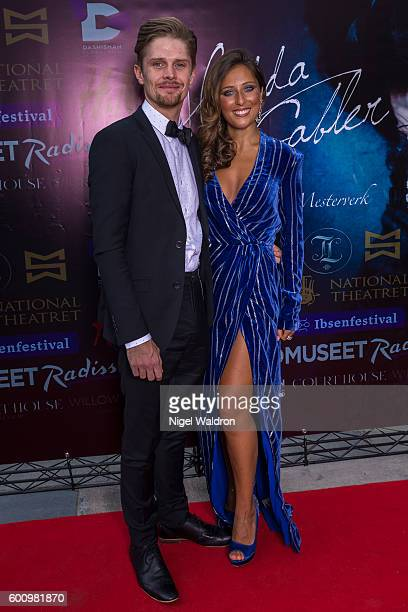 Actor David Butler Rita Ramnani attend the Norwegian premiere of Hedda Gabler held at the Vika Cinema on September 08 2016 in Oslo Norway