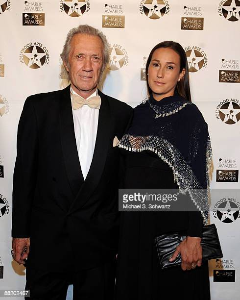Actor David Carradine and his daughter Kansas attend the 23rd Annual Charlie Awards at the Hollywood Palladium on April 19 2009 in Hollywood...