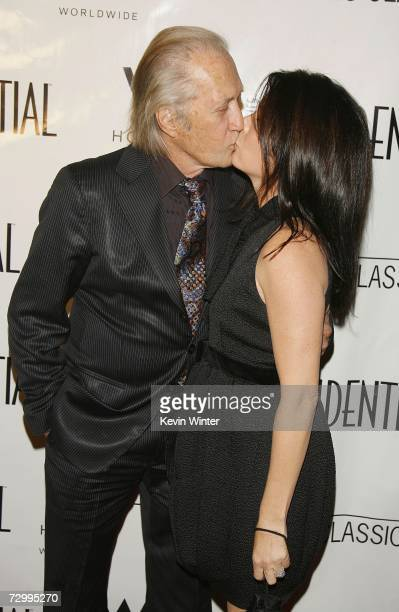 Actor David Carradine and his wife Annie arrive at LA Confidential Magazine's PreGolden Globe party honoring Penelope Cruz at the W Hotel on January...