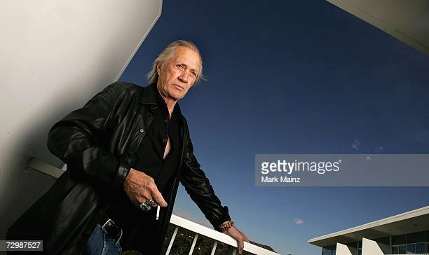Actor David Carradine poses for a portrait at the 2007 World Talent Style Lounge held before the 64th Annual Golden Globe Awards at the Beverly...
