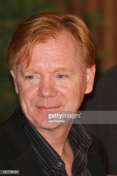 Actor David Caruso attends the 'CSI Miami' 200th Episode CakeCutting Ceremony at Raleigh Manhattan Studios on October 15 2010 in Manhattan Beach...
