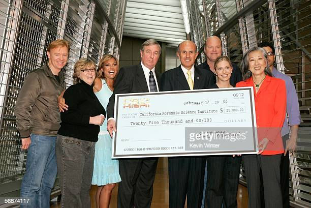 Actor David Caruso Executive Producer Ann Donahue actress Eva LaRue Los Angeles District Attorney Steve Cooley Los Angeles County Sheriff Lee Baca...