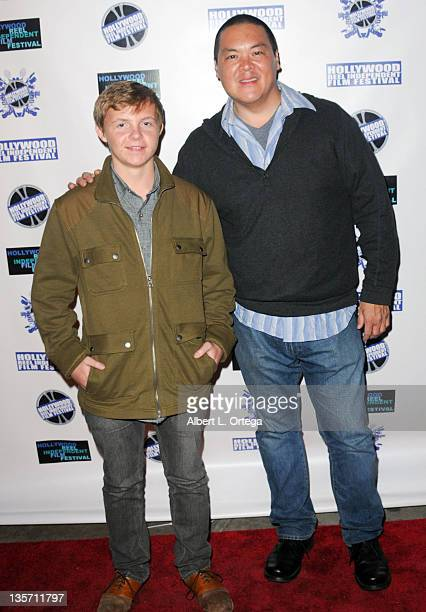 Actor David Chandler and director Ray Chao arrive for the Hollywood Reel Independent Film Festival Awards Program held at New Beverly Cinema on...
