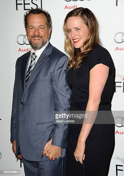 Actor David Costabile and actress Eliza Baldi attend the 2012 AFI Fest premiere of Lincoln at Grauman's Chinese Theatre on November 8 2012 in...
