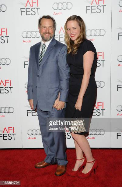 Actor David Costabile and Eliza Baldi arrive at the Lincoln premiere during AFI Fest 2012 presented by Audi at Grauman's Chinese Theatre on November...