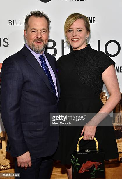 Actor David Costabile and Eliza Baldi attend the Showtime series premiere of Billions at The New York Museum Of Modern Art on January 7 2016 in New...