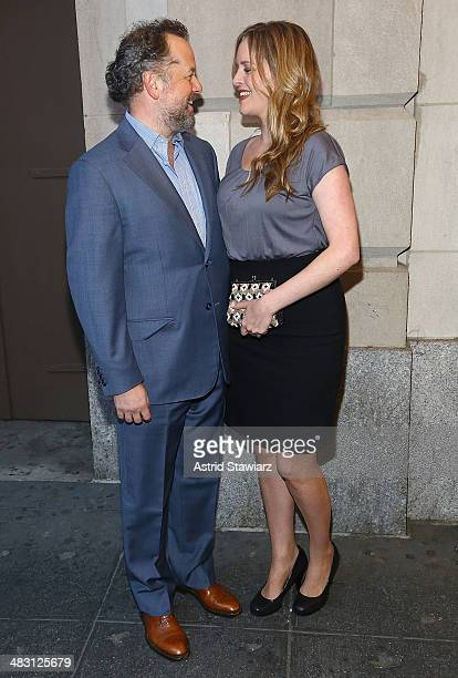 Actor David Costabile and wife Eliza Baldi attend the The Realistic Joneses opening night at The Lyceum Theater on April 6 2014 in New York City