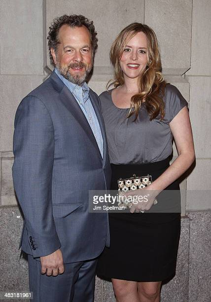 Actor David Costabile and wife Eliza Baldi attends the Broadway opening night of The Realistic Joneses at The Lyceum Theater on April 6 2014 in New...
