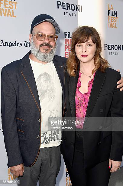 Actor David Cross and director/producer/cowriter/actress Amber Tamblyn attends the LA Film Festival premiere of Tangerine Entertainment's Paint It...