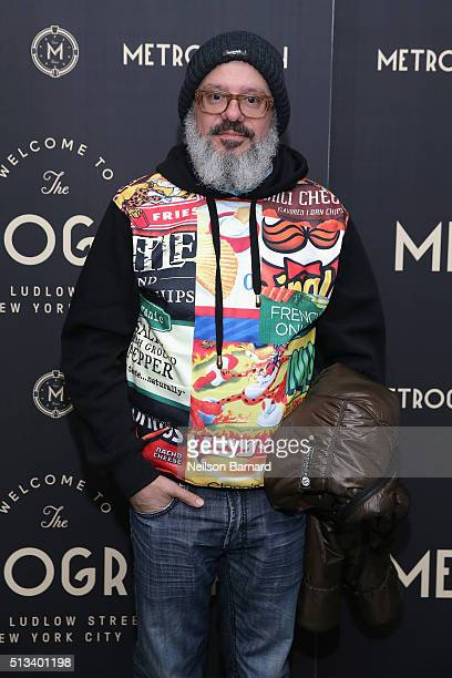 Actor David Cross attends the Metrograph opening night at Metrograph on March 2 2016 in New York City