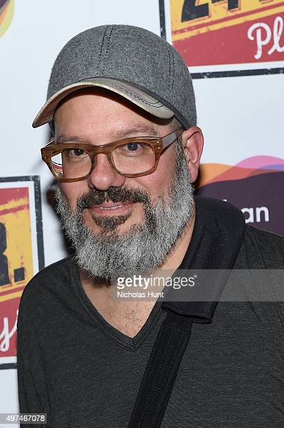 Actor David Cross attends Urban Arts Partnership at the 15th annual The 24 Hour Plays On Broadway after party at BB King on November 16 2015 in New...