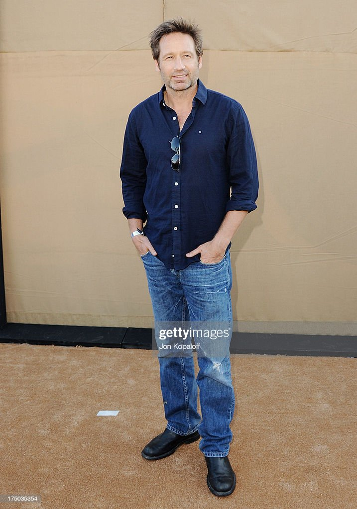 Actor David Duchovny arrives at the 2013 Television Critic Association's Summer Press Tour - CBS, The CW, Showtime Party at The Beverly Hilton Hotel on July 29, 2013 in Beverly Hills, California.