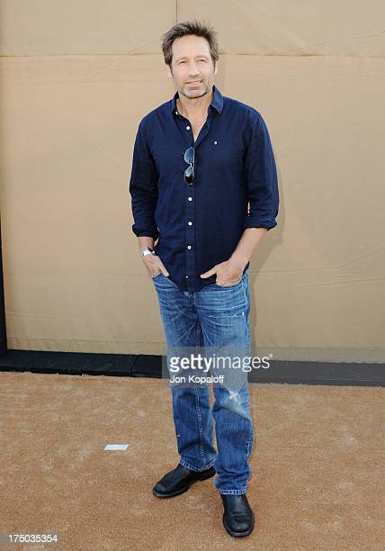Actor David Duchovny arrives at the 2013 Television Critic Association's Summer Press Tour CBS The CW Showtime Party at The Beverly Hilton Hotel on...