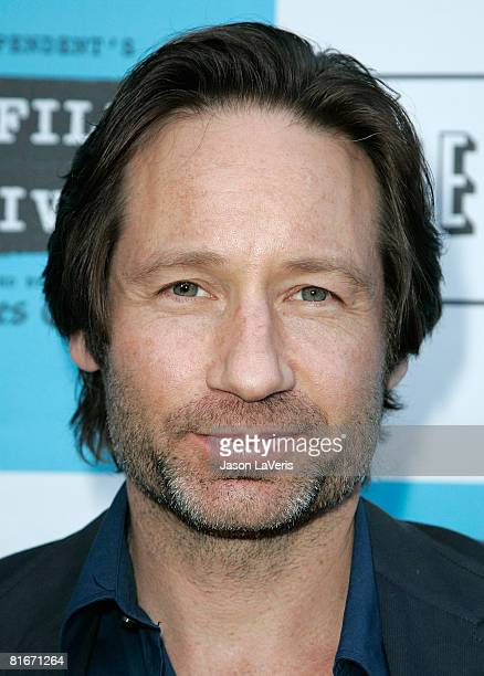 Actor David Duchovny attends the 2008 Los Angeles Film Festival's EW Talks with XFiles I Want to Believe Screening on June 22 2008 at Majestic Crest...